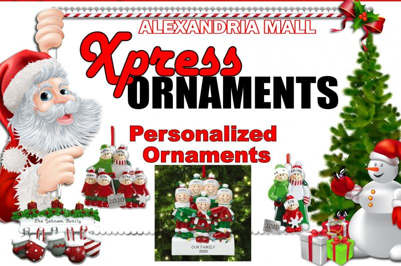 Taking orders for personalized ornaments